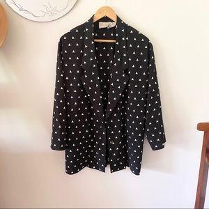 Vintage Liz Claiborne Triangle Black Blazer